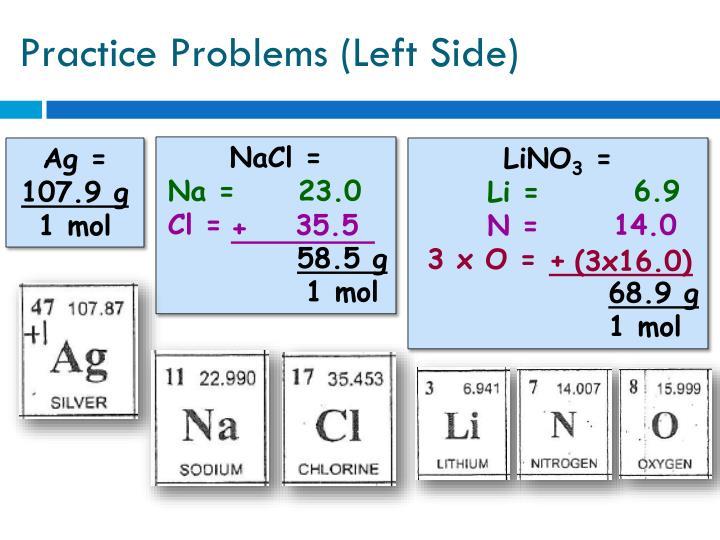 Practice Problems (Left Side)