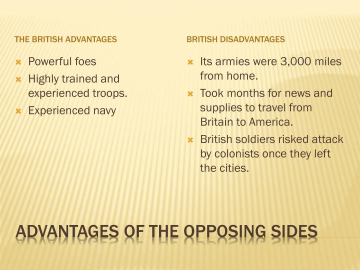 The British advantages