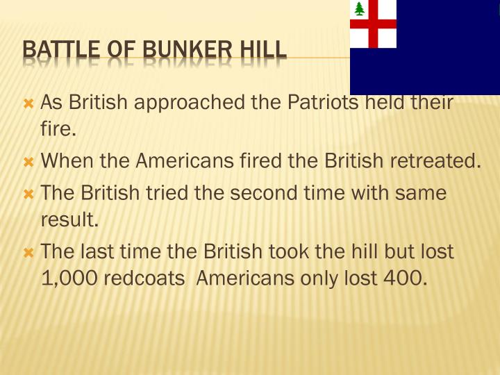 As British approached the Patriots held their fire.