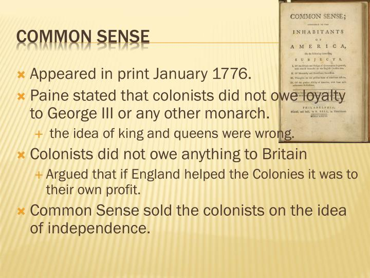 Appeared in print January 1776.