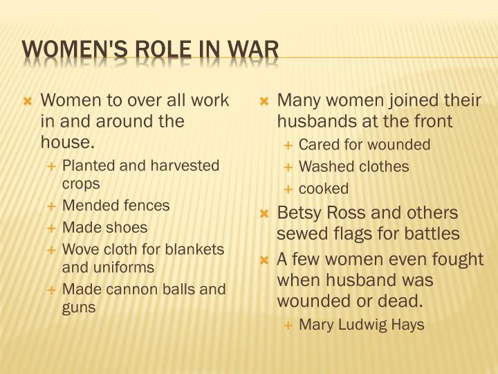 Women's role in War