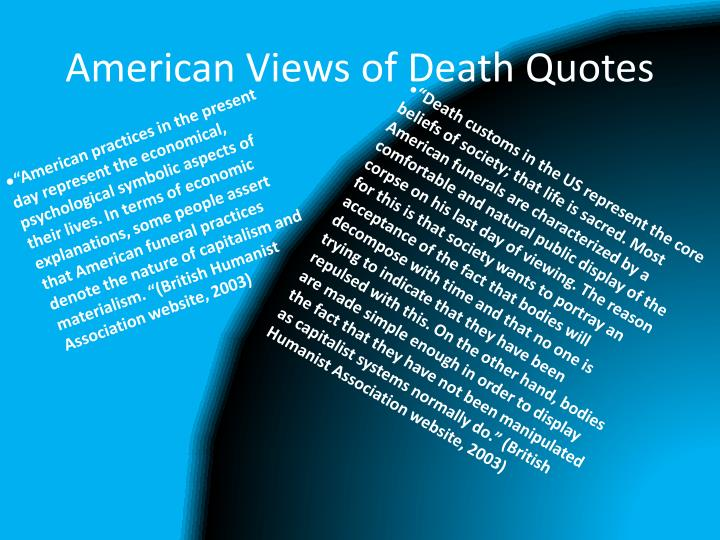 American Views of Death Quotes