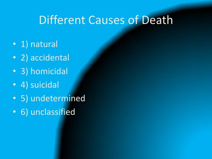 Different Causes of Death