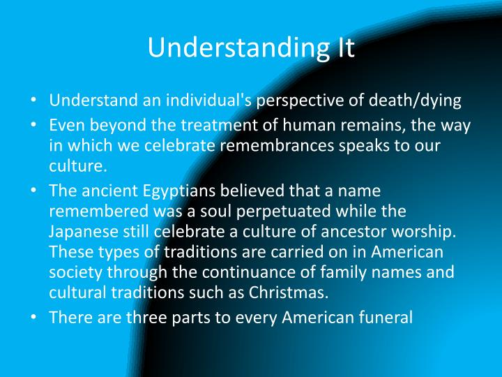Understanding It
