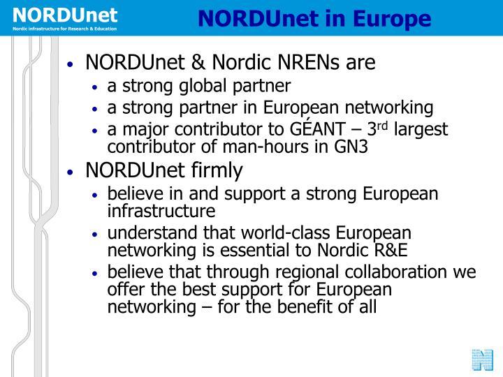 NORDUnet in Europe