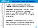 nordunet vision and strategy
