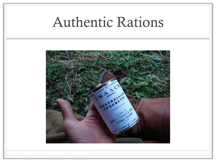 Authentic Rations