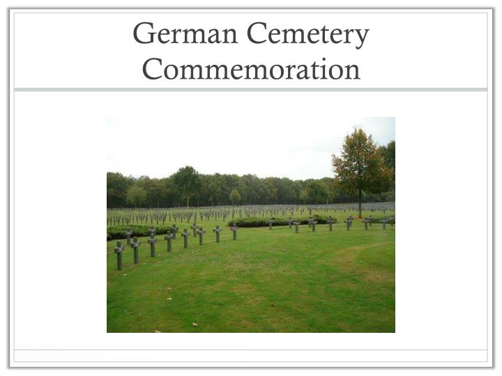 German Cemetery Commemoration