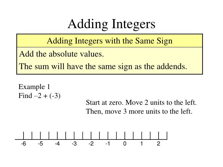 Adding integers2