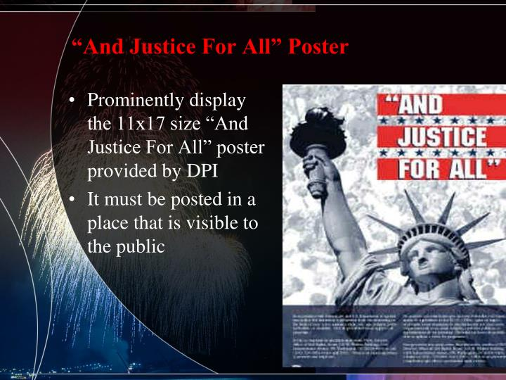 """""""And Justice For All"""" Poster"""