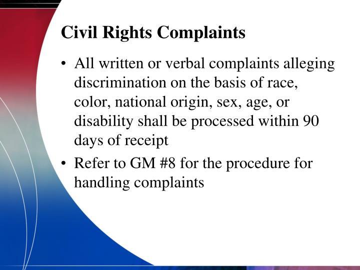 Civil Rights Complaints