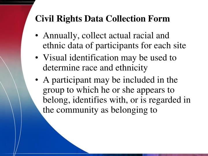 Civil Rights Data Collection Form