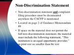 non discrimination statement