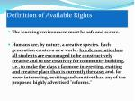definition of available rights1