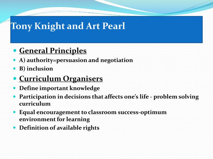 Tony Knight and Art Pearl
