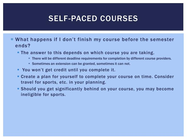 Self-Paced Courses