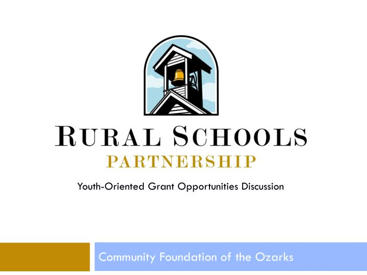 Youth-Oriented Grant Opportunities Discussion