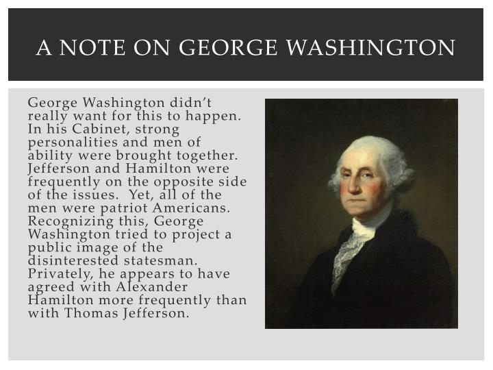 A Note on George Washington