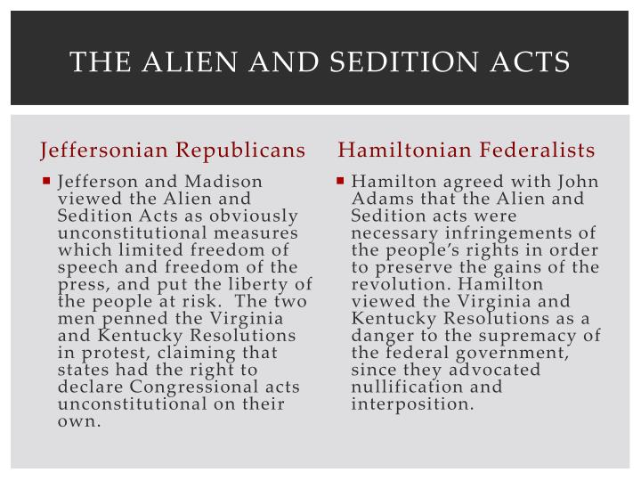 The Alien and Sedition