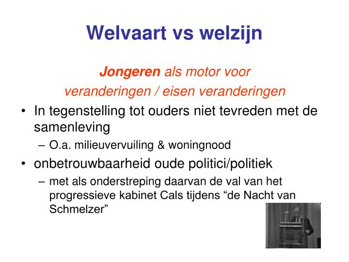 Welvaart vs welzijn