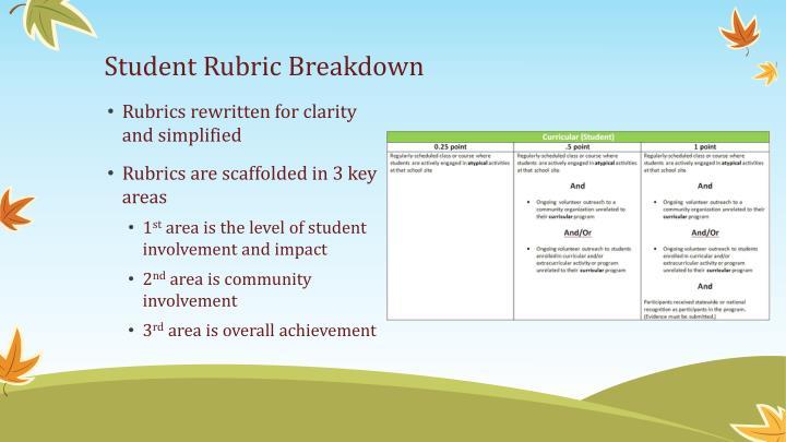 Student Rubric Breakdown