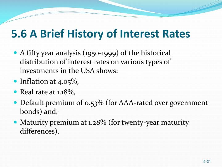 5.6 A Brief History of Interest Rates