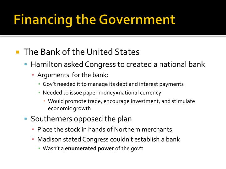 Financing the Government