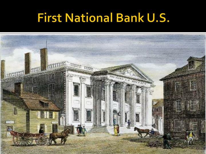 First National Bank U.S.