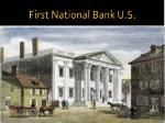 first national bank u s