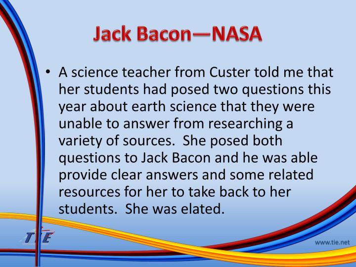 Jack Bacon—NASA