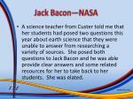 jack bacon nasa