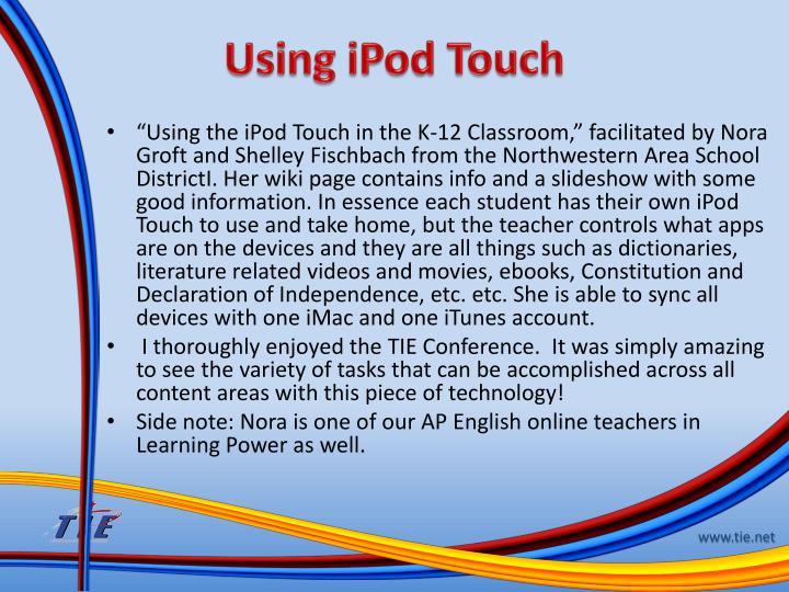 Using iPod Touch
