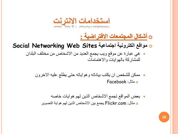 استخدامات الانترنت