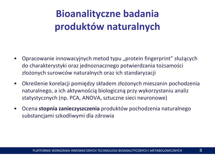Bioanalityczne badania
