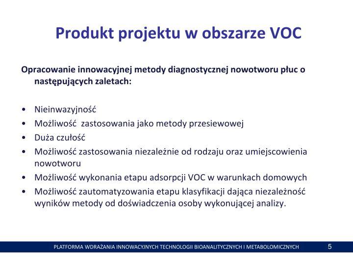 Produkt projektu w obszarze VOC