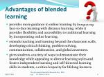 advantages of blended learning