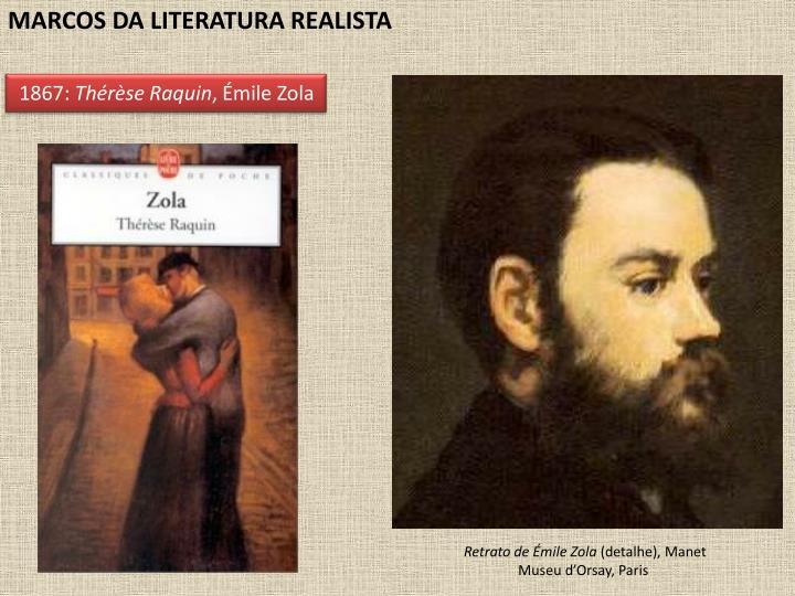 MARCOS DA LITERATURA REALISTA