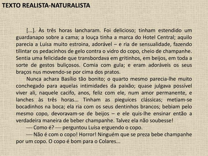 TEXTO REALISTA-NATURALISTA