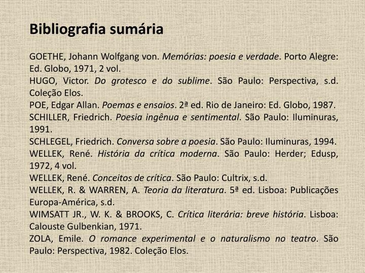 Bibliografia sumria