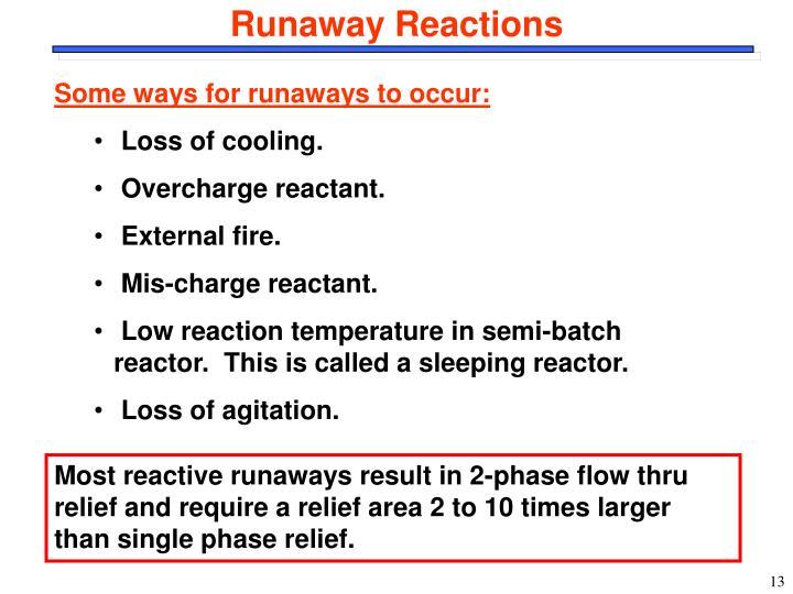 Runaway Reactions