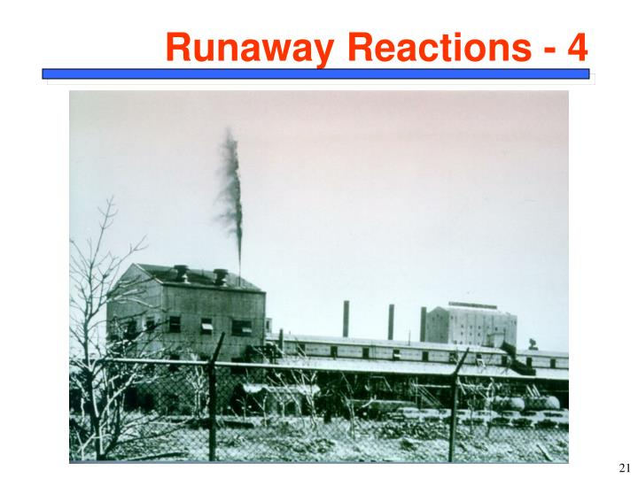 Runaway Reactions - 4
