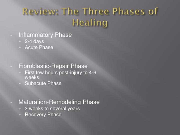 Review: The Three Phases of Healing