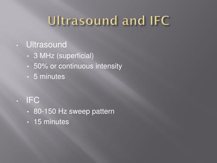 Ultrasound and IFC