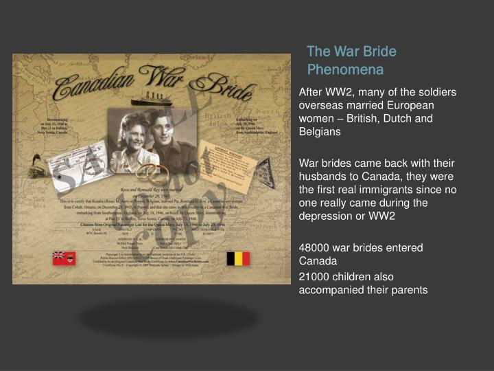 The War Bride Phenomena