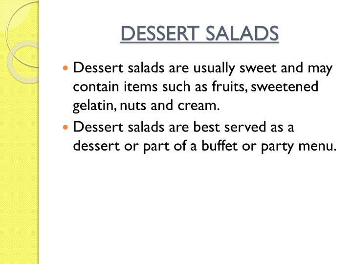 DESSERT SALADS