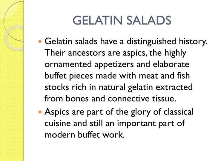 GELATIN SALADS