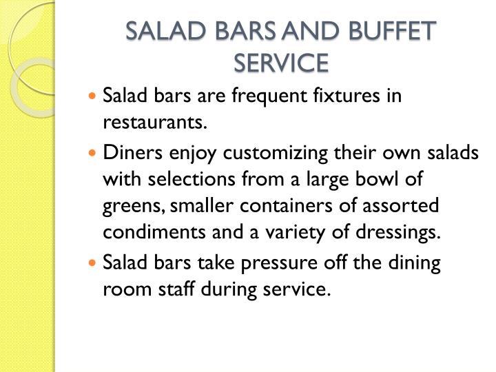 SALAD BARS AND BUFFET SERVICE