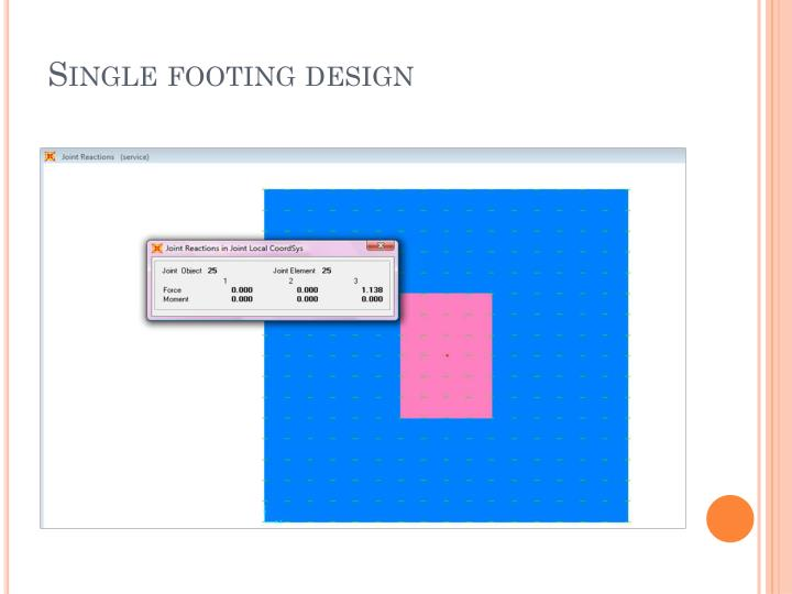 Single footing design