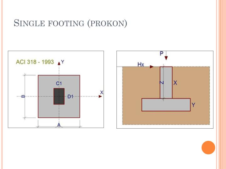 Single footing (