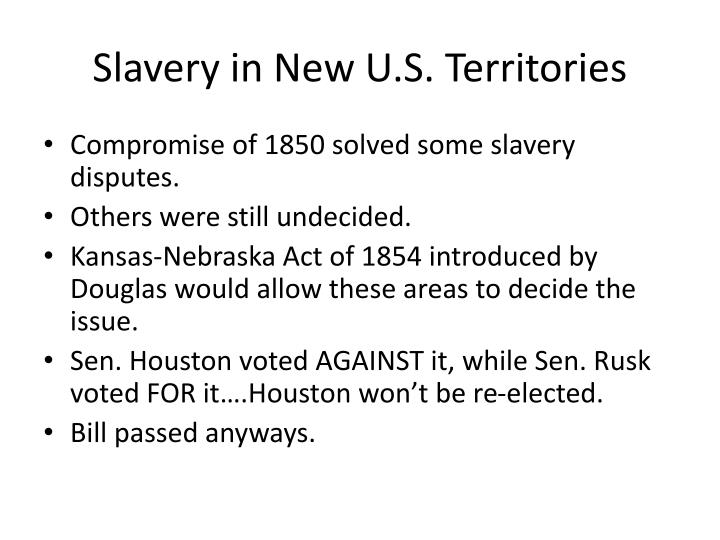 Slavery in New U.S. Territories